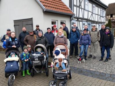 Foto zur Meldung: Winterwanderung des Nazzaer Kirmesvereins