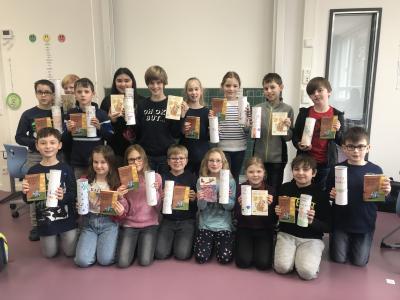 Vorschaubild zur Meldung: Unsere Leserollen_ein Deutschprojekt der Klasse 4a