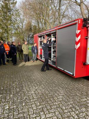 Foto zur Meldung: Führungskräfteschulung der Feuerwehren der Gemeinde Plattenburg