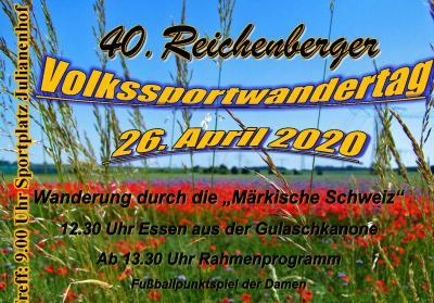 Foto zur Meldung: 40. Reichenberger Volkssportwandertag