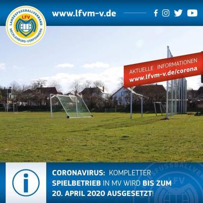 Vorschaubild zur Meldung: Verlängerung der Spielpause vorerst bis zum 20. April 2020