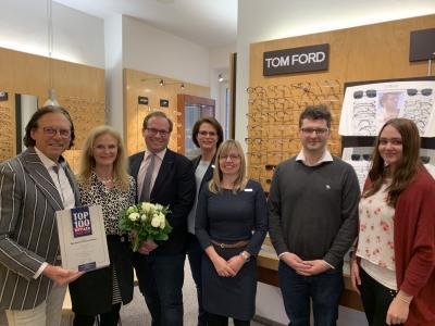 Foto zur Meldung: Brillen-Rasch - Nauener Optikfachgeschäft feiert seinen 70. Geburtstag