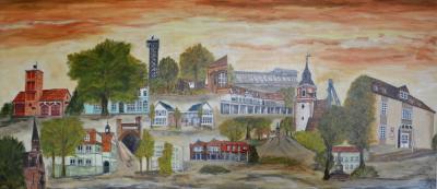 Die ganze Gemeinde in einem Bild, gemalt von Sabine Stahn