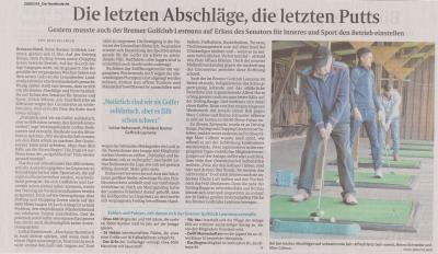Vorschaubild zur Meldung: Artikel Norddeutsche 18.03.2020