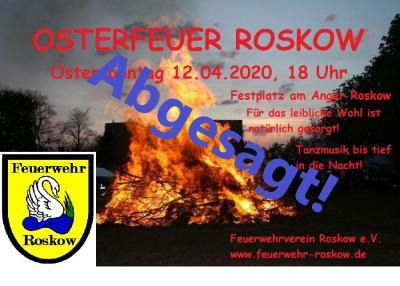 Vorschaubild zur Meldung: Absage Osterfeuer 2020