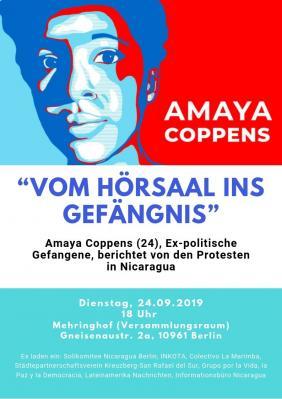 Vorschaubild zur Meldung: Vom Hörsaal ins Gefängnis - Amaya Coppens