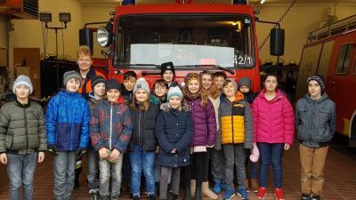 Foto zur Meldung: Unser Besuch bei der Feuerwehr in Ipsheim