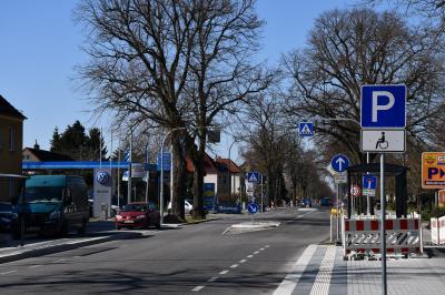 Die Bauarbeiten an der Hamburger Straße werden voraussichtlich Ende April abgeschlossen sein.