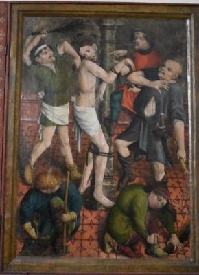 Der Passionsaltar (um 1480, unbekannter Meister) aus der Sakristei der Klosterkirche Doberlug