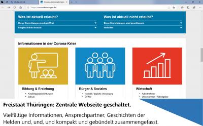 Vorschaubild zur Meldung: Zentrale Infoseite Corona/COVID-19