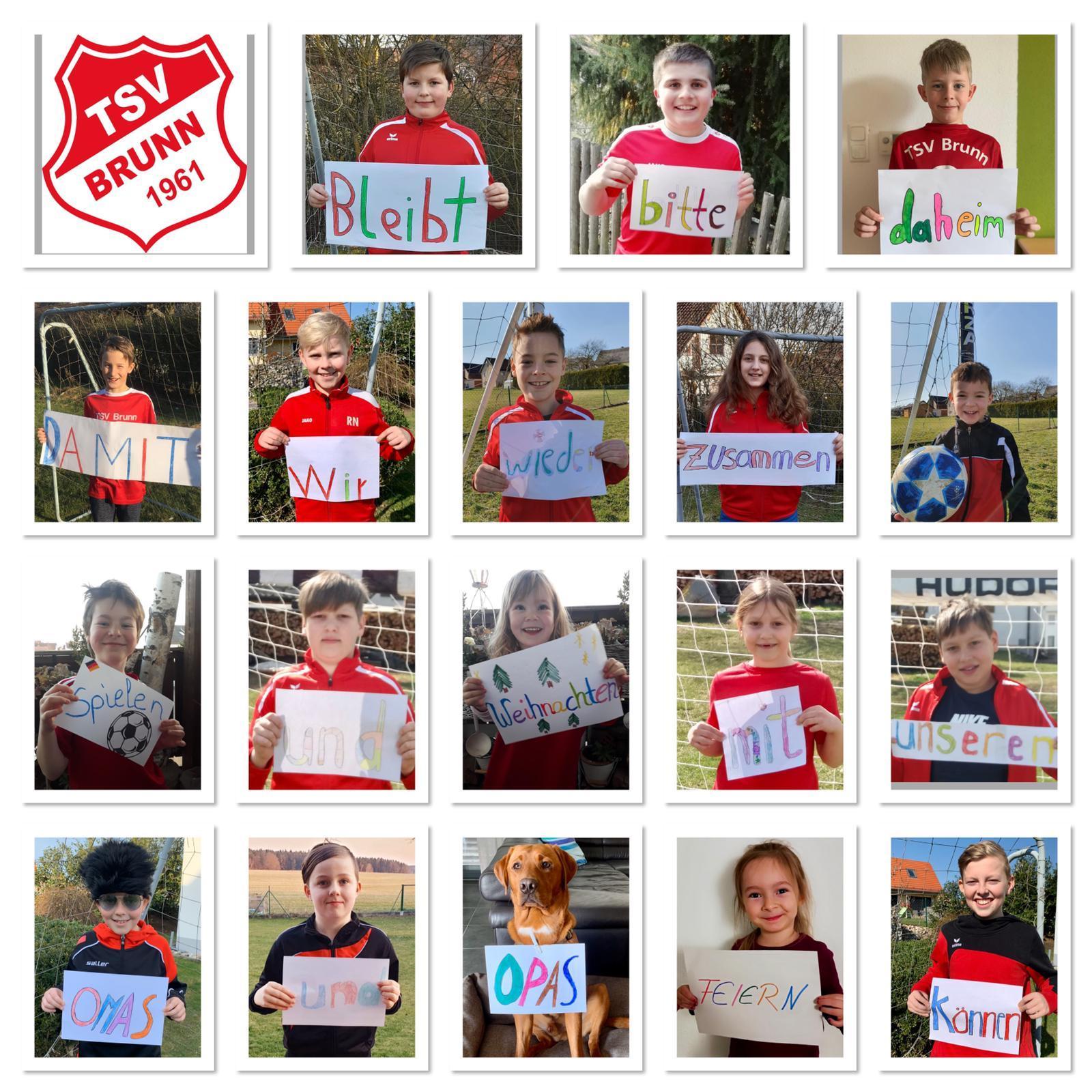 Bild der Meldung: Gute Wünsche unserer E-Jugend-Fußballer
