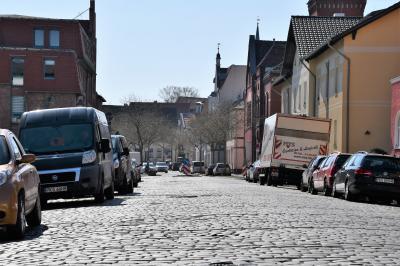 Die Dammstraße in Nauen.