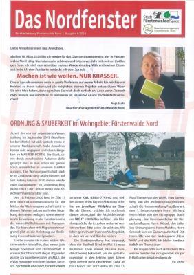 """Vorschaubild zur Meldung: 3. Ausgabe der Stadtteilzeitung """"Nordfenster"""" ist da. Gewinnspielverlosung am 18.04."""