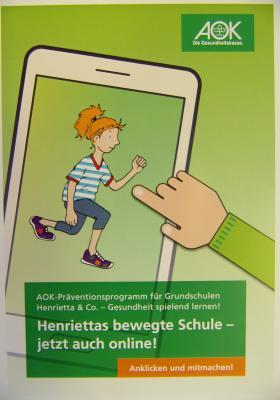 """Vorschaubild zur Meldung: """"Henrietta & Co"""" - AOK-Präventionsprogramm online"""