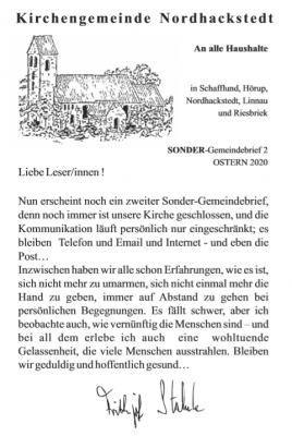 Foto zur Meldung: Kirchengemeide Sonder-Brief