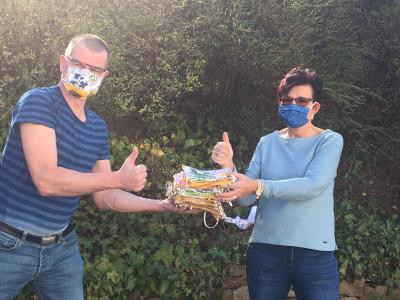 Foto zur Meldung: Spende von Mund-Nasen-Schutzmasken