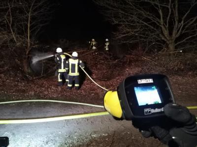 Foto zur Meldung: Feuer in der Heide