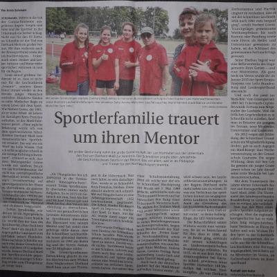 Vorschaubild zur Meldung: Trauer beim SV Fortuna Schmölln