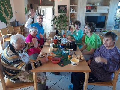 Foto zur Meldung: Ostergrüße aus der Dr.-Rinsche-Wohnstätte