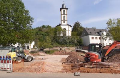 Foto zur Meldung: Der neue Dorfplatz entseht