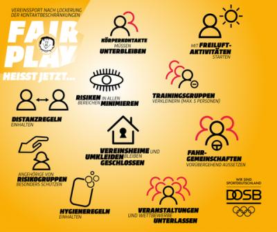 Vorschaubild zur Meldung: Vereine aufgepasst - Hygieneregeln für Außensportstätten