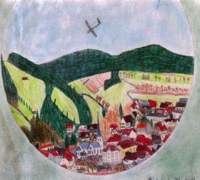 """Das Siegerbild von Johann Witte (11 Jahre) """"Blick durch das Glückskleeblatt"""""""