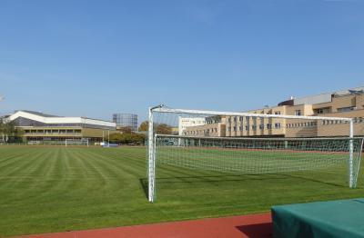 Dominicus-Sportplatz zwischen der Inter-Geschäftsstelle in der Sporthalle  Schöneberg und der Inter-Arena