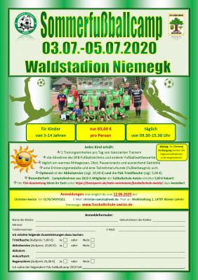 Vorschaubild zur Meldung: Sommerfußballcamp in Niemegk