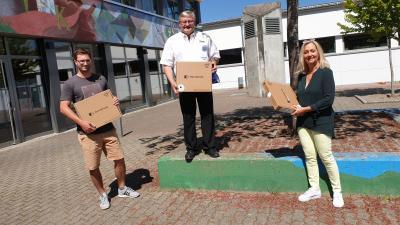 v.l.n.r. Herr Wolfer, Herr Bohnert, Frau Ganzke