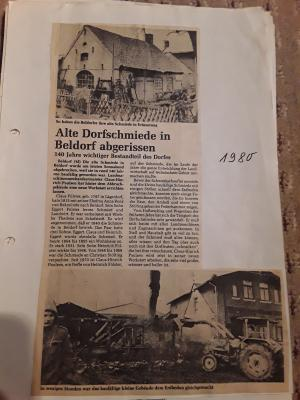 Beldorfer Schmiede im Wandel der Zeit