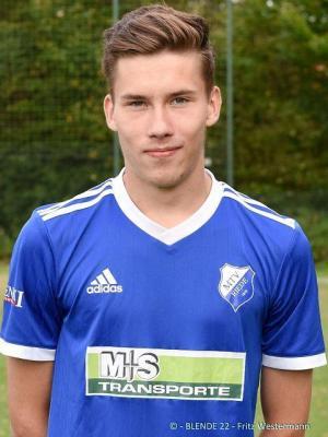 Constantin Borchers (hier noch im Trikot des MTV Riede) wechselt zur neuen Saison das Trikot und trägt dann Grünrot.