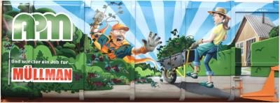 Foto zur Meldung: Grünabfallentsorgung – ein Job für Müllmann