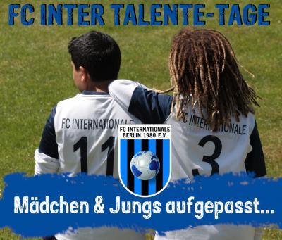 Vorschaubild zur Meldung: Anmeldung zum FC INTER Talente-Tag