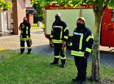 Foto zur Meldung: Feuerwehr Schmalensee wieder im Übungsbetrieb