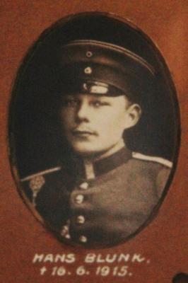 Foto zur Meldung: Vor 105 Jahren: Der Schmalenseer Hans Blunk fällt im Krieg