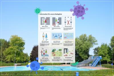 Vorschaubild zur Meldung: Information - Baden unter Pandemiebedingungen im Bolzbergbad