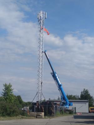 Bild der Meldung: Mobilfunkturm aufgebaut
