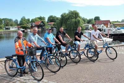 Foto zur Meldung: Neukalens Hafen hat jetzt eine eigene Fahrradflotte