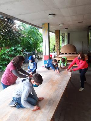 Vorschaubild zur Meldung: Lernmöglichkeiten im Freien entstehen