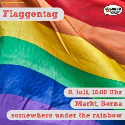 Foto zur Meldung: Flaggentag - Regenbogenfahne & Mayors for Peace