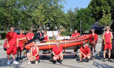 Foto zur Meldung: Schafflunder Rettungsschwimmer übernehmen Strandwache an der Küste