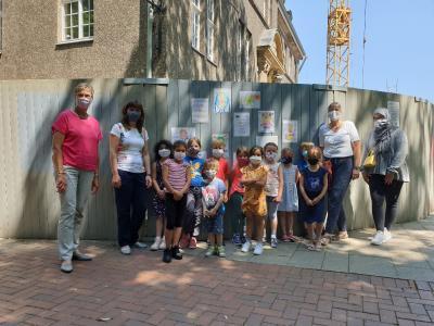 Vorschaubild zur Meldung: OGS-Kinder bei der Bürgermeisterin