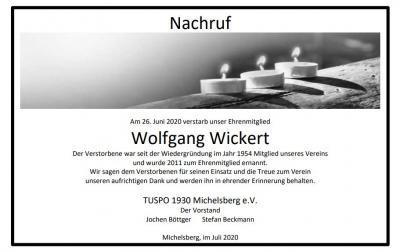 Nachruf Wolfgang Wickert