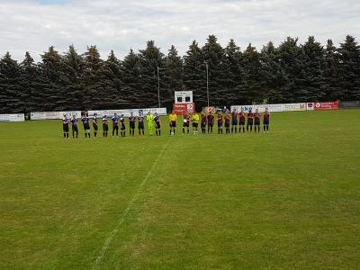 Begrüßung der Mannschaften, Freunschaftsspiel am So., 12.07.2020, 14:30 Uhr, in Kemnitz, SpG Kittlitz