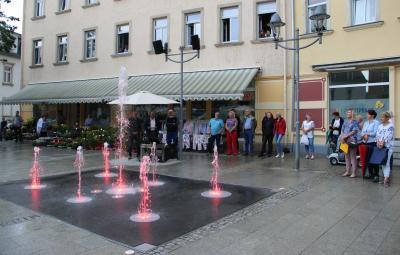 Foto zur Meldung: Einweihung Wasserspiel Ernst-Thälmann-Straße
