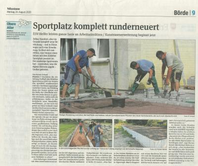 Zeitungsartikel 24.08.2020
