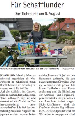Vorschaubild zur Meldung: Dorfflohmarkt - Anmeldeschluss am 24.07.2020