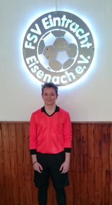 Vorschaubild zur Meldung: Neuer Schiedsrichter für den FSV Eintracht Eisenach