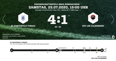 Foto zur Meldung: Fußball: Lok unterliegt im ersten Test