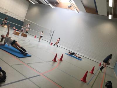 Erstes Training in der Halle nach Abbruch der Saison 19/20